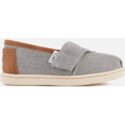 TOMS Toddlers' Seasonal Classic Chambray Slip On Pumps - Frost Grey - UK 4/US 5 Toddlers - Grey