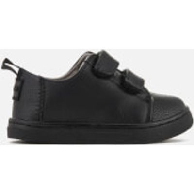 TOMS Toddlers' Lenny Double Velcro Trainers - Black - UK 9/US 10 Toddlers - Black
