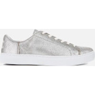 TOMS Women's Lenox Metallic Leather Cupsole Trainers - Silver - UK 3/US 5 - Silver