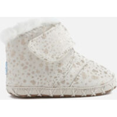TOMS Babies' Cuna Layette Snow Spots Boots - Gold Foil - UK 3/US 4 Baby - Cream