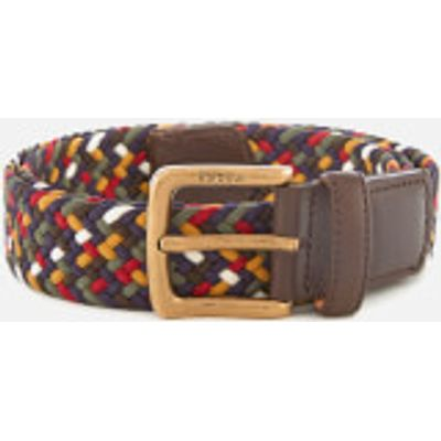 Barbour Men's Tartan Coloured Stretch Belt Gift Box - Classic - M - Multi