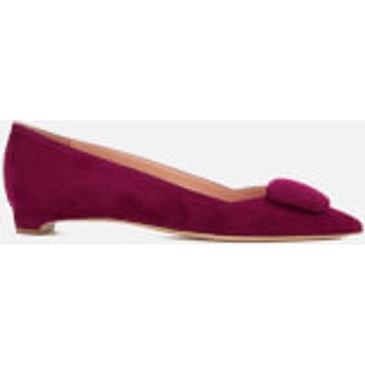 Rupert Sanderson Women's Aga Suede Pointed Flat Shoes - Sangria - UK 3 - Red