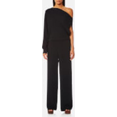 MM6 Maison Margiela Women's Off the Shoulder One Sleeve Jumpsuit - Black - IT 40/UK 8 - Black