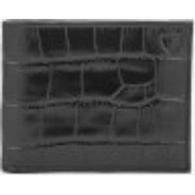 Aspinal of London Men's Billfold Wallet - Black/Cobalt