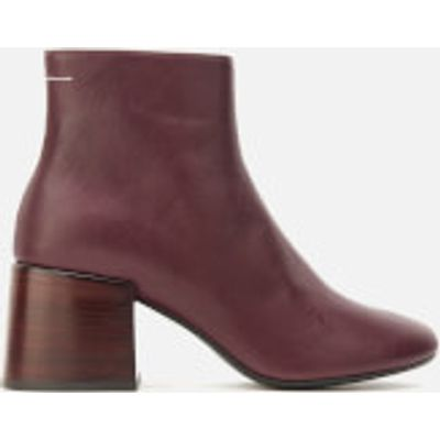 MM6 Maison Margiela Women's Heeled Ankle Boots - Bordeaux - UK 4 - Brown