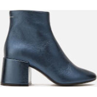 MM6 Maison Margiela Women's Heeled Ankle Boots - Blue - UK 4 - Blue