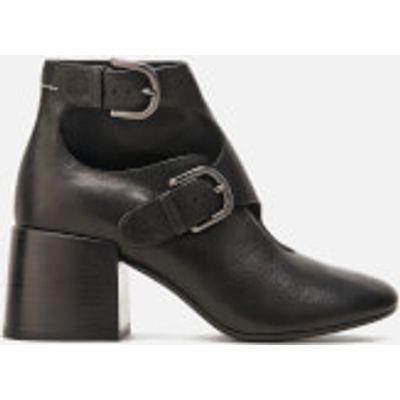MM6 Maison Margiela Women's Double Buckle Heeled Ankle Boots - Black - UK 7 - Black