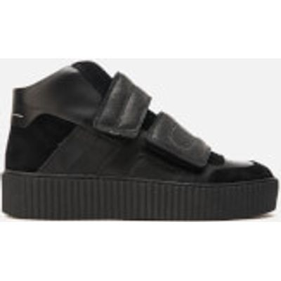 MM6 Maison Margiela Women's Double Velcro Hi-Top Trainers - Black/Black/Black - UK 7 - Black