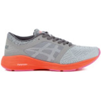 Asics Women's Roadhawk FF Trainers - Carbon/Silver/Flash Coral - UK 3 - Grey