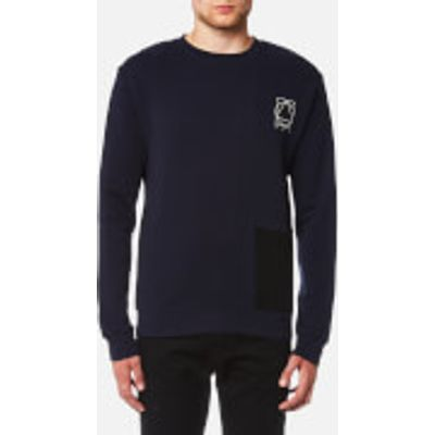 McQ Alexander McQueen Men's Curtis Colourblock Crew Neck Sweatshirt - Indigo - L - Blue