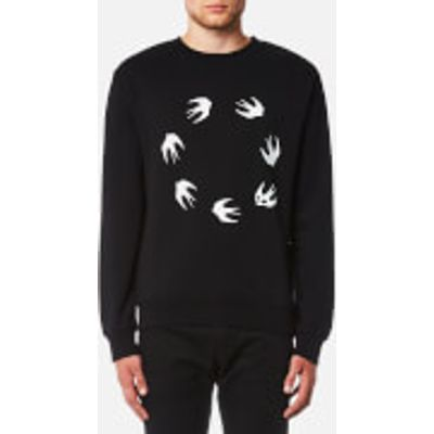 McQ Alexander McQueen Men's Swallow Circle Sweatshirt - Darkest Black - XL - Black