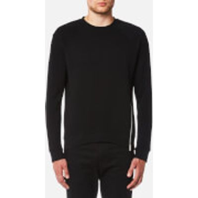McQ Alexander McQueen Men's Twisted Zip Curtis Crew Neck Sweatshirt - Darkest Black - XL - Black