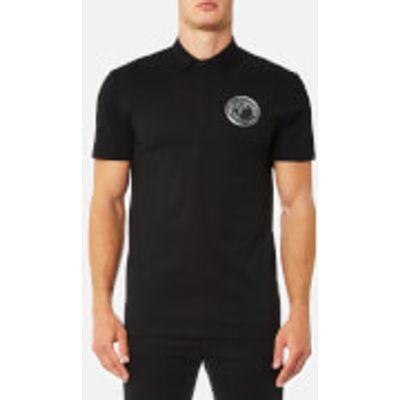 Versace Collection Men's Round Logo Polo Shirt - Nero - M - Black
