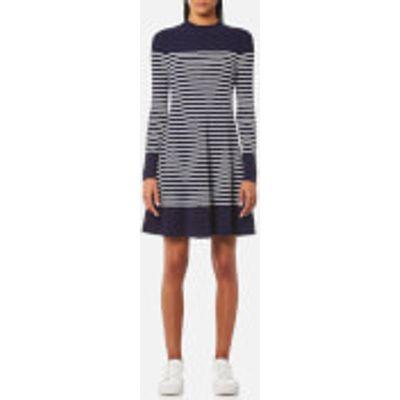 Tommy Hilfiger Women's Gaila Stripe Rib Dress - Peacoat/Classic White - XS - Blue