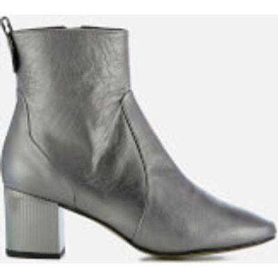 Carvela Women's Strudel Leather Heeled Ankle Boots - Gunmetal - UK 7 - Silver
