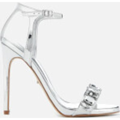 Carvela Women's Gail Barely There Heeled Sandals - Silver - UK 5 - Silver