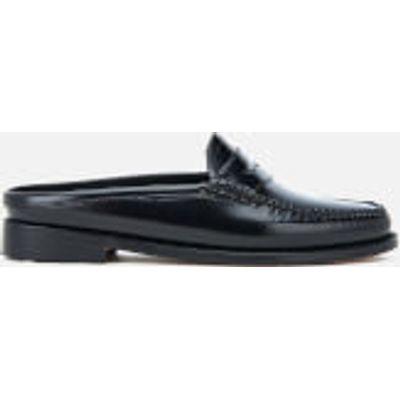 Bass Weejuns Women's Penny Slide Wheel Print Leather Slide Loafers - Black - UK 3 - Black