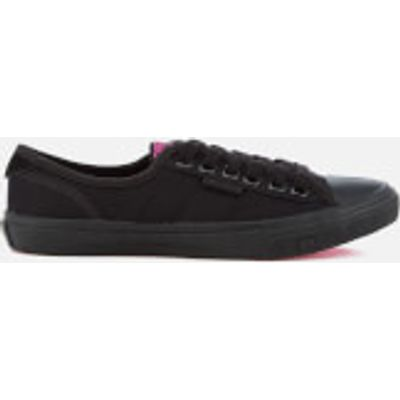 Superdry Women's Low Pro Trainers - Black/Black - UK 4 - Black