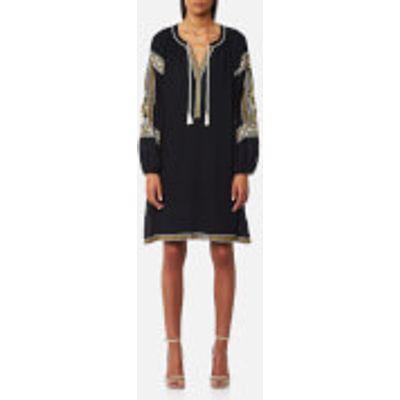 Maison Scotch Women's Embroidered Boho Dress - Night - XS - Black