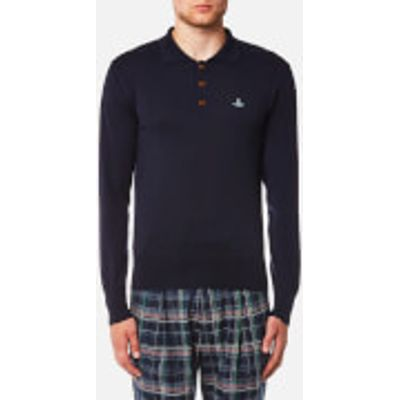 Vivienne Westwood MAN Men's Classic Long Sleeve Polo Shirt - Navy - XL