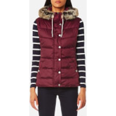 Barbour Women's Beachley Gilet - Carmine - UK 10 - Red