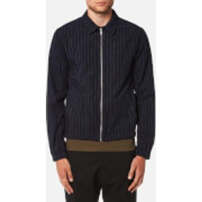 Folk Men's Pinstripe Zip Up Blouson - Navy Pinstripe - 5/XL - Navy