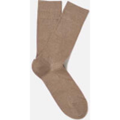 FALKE Men's Family Socks - Nutmeg Melange - EU 39-42 - Beige