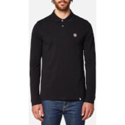 Pretty Green Men's Hartford Long Sleeve Polo Shirt - Black - XXL - Black