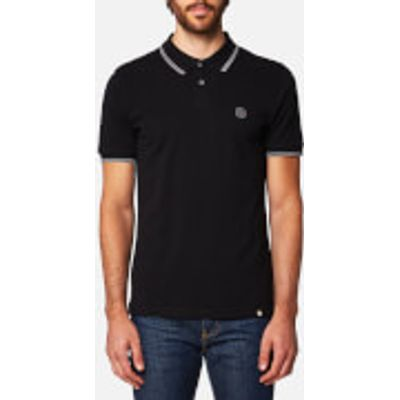 Pretty Green Men's Barton Short Sleeve Polo Shirt - Black - S - Black