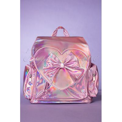 60s Nyla Backpack in Holographic Pink
