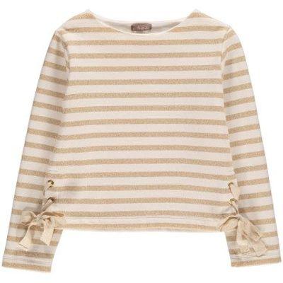 Laced Lurex Marinière Sweatshirt