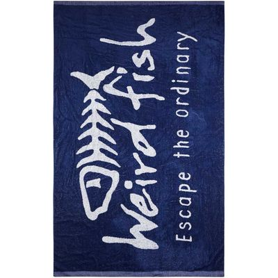 Weird Fish Beach Towel Blue Size ONE - 5054666413648