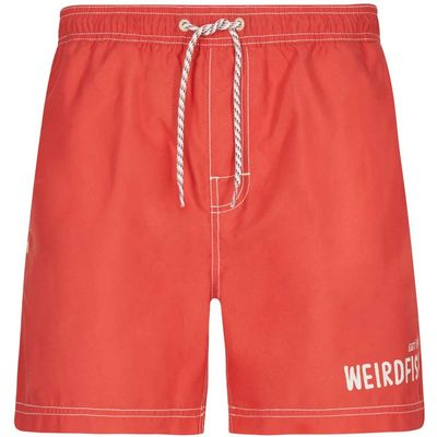 Weird Fish Volac Board Short Radical Red Size 38