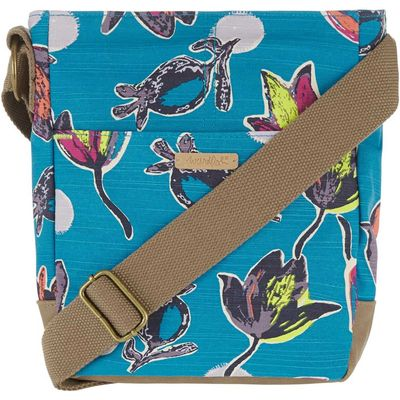 Weird Fish Amira Printed Cross Body Bag Blue Jay Size ONE