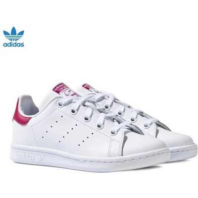 White and Pink Stan Smith Trainers
