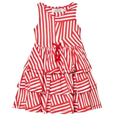 White and Red Stripe Tokyo Layered Dress