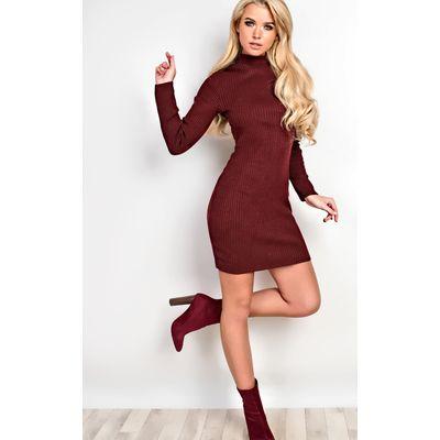 IKRUSH Womens Finch Ribbed Dress