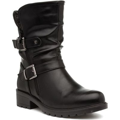 Lilley Womens Brown Pull On Chelsea Ankle Boot