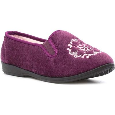 Womens Heather Slip On Slipper