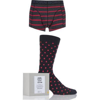 Mens 2 Pack Bjorn Borg Gift Boxed Mystique Path Short Shorts and Socks