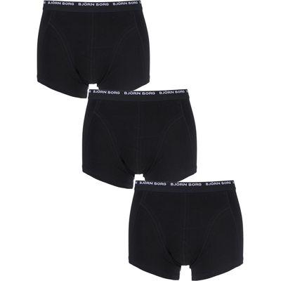 Mens 3 Pack Bjorn Borg Basic Cotton Short Shorts