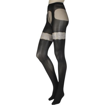 Ladies 1 Pair Trasparenze Aleppo Mock Hold Up Tights