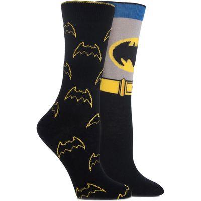 Ladies 2 Pair SockShop DC Comics Mix Batman Socks