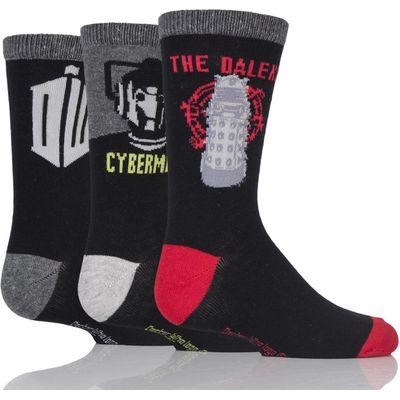 Kids 3 Pair SockShop Doctor Who Socks
