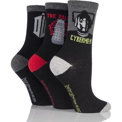 Ladies 3 Pair SockShop Doctor Who Socks