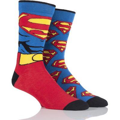Mens 2 Pair SockShop DC Comics Mix Superman Socks