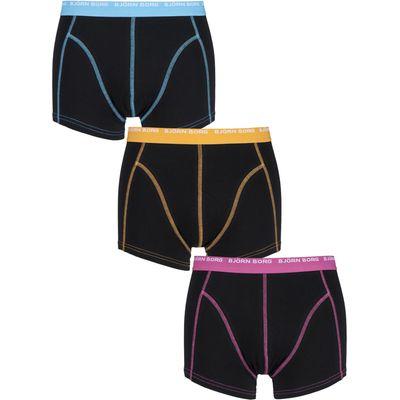 Mens 3 Pack Bjorn Borg Cotton Short Shorts