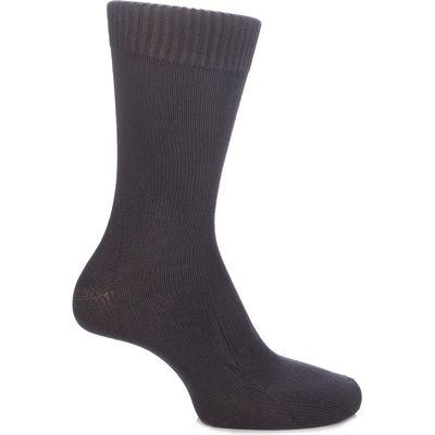 Mens & Ladies 1 Pair SockShop of London Bamboo Plain Knit True Socks