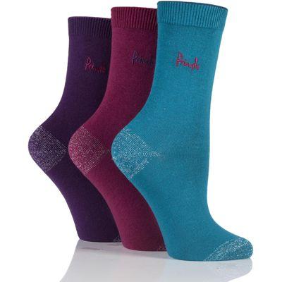 Ladies 3 Pair Pringle Tiffany Plain Trouser Sock