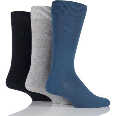Mens 3 Pair Pringle Endrick Plain Trouser Socks